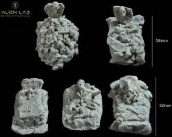 Alien Lab Miniatures T021 Ancient Burial Grounds 28mm - Kurhany
