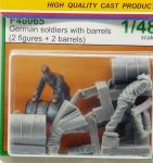 CMK F48065 German Soldiers Rolling Barrels 1:48
