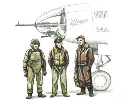 CMK F72339 WWII US bomber pilot and two gunners [3szt] 1:72