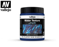 Vallejo 26204 Atlantic Blue - Water Texture 200ml - Błękit Atlantyku