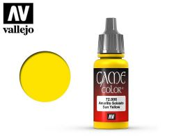 Vallejo Game Color 72006 Sun Yellow 17ml.