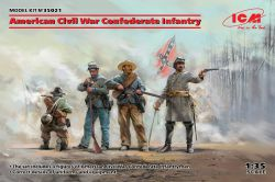 ICM 35021 Confederate Infantry [American Civil War] [4 figures] 1:35