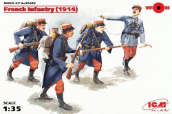 ICM 35682 French Infantry (1914) [4 fig] 1:35