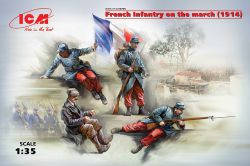ICM 35705 French Infantry on the march (1914) [4szt] 1:35