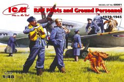 ICM 48081 RAF Pilots and Ground Personnel [1939-45] [7 figures] 1:48