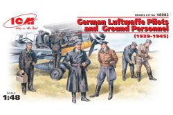 ICM 48082 German Luftwaffe Pilots and Ground Personnel [1939-45] 1:48