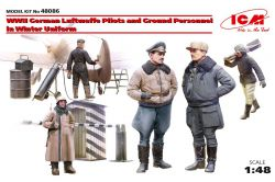 ICM 48086 WWII German Luftwaffe Pilots and Ground Personnel in Winter Uniform [5 figures] 1:48