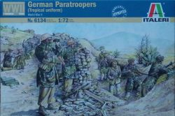 Italeri 6134 German Paratroopers with Tropical Uniform (WWII) 1:72