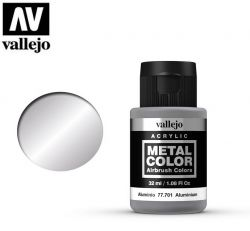 Vallejo Metal Color 77701 Aluminium 32ml - Metalizer do aerografu