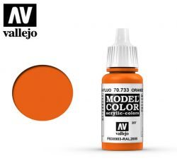 Vallejo 70733 Orange Fluorescent MC207 17ml.