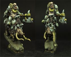 Scibor 28FM0191 Orc Chief on War Boar 28mm - Wódz Ork