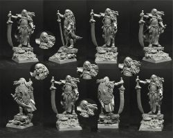 Scibor 28FM0346 High Elf Lord 28mm - Wysoki elf