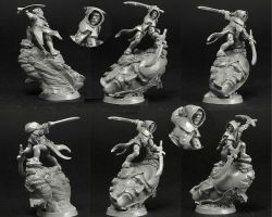 Scibor 28FM0347 Sci Fi Elf Warrior 28mm - Leśny Elf