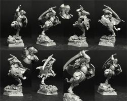 Scibor 28FM0353 Wood Elf Lord 28mm - Leśny elf