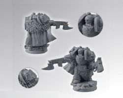 Scibor 28SF0030 Celtic SF Warrior #4 28mm - Space Marine