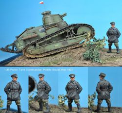 Scibor 35HM0001 Polish FT17 Tank Commander 1:35
