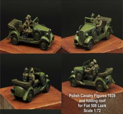 Scibor 72HM0017 Polish Crew and roof for Fiat 508 1:72