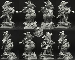 Scibor OGCH0024 Ogre Chief #2 28mm - Ogr wódz
