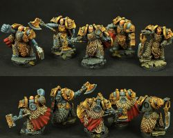 Scibor 28SF0117 Celtic SF Warriors [5 miniatures] 28mm - Space marines