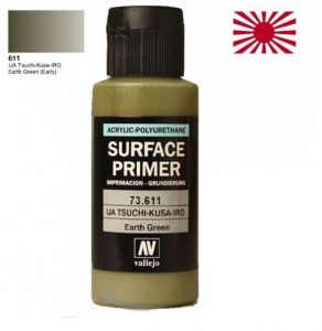 Vallejo 73611 Surface Primer IJA Tsuchi-Kusa-Giro (Earth Green) 60ml.