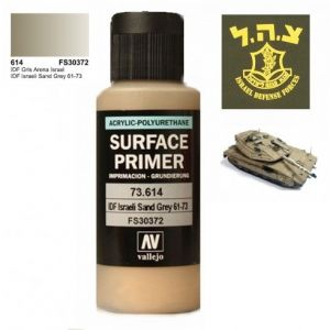 Vallejo 73614 Surface Primer IDF Israeli Sand Grey 60ml.
