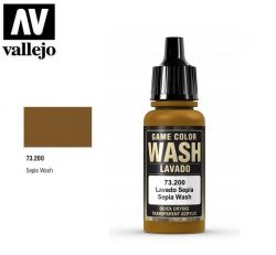 Vallejo 73200 Sepia Shade Wash 17ml.