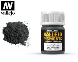 Vallejo Pigments 73114 Dark Slate Grey 35ml