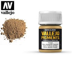 Vallejo Pigments 73103 Dark Yellow Ochre 35ml