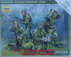 Zvezda 6137 Soviet Reconnaissance Team [1941-1943] 1:72 Art of Tactic