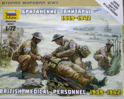 Zvezda 6228 British Medical Personnel (1939-1942) 1:72 Art of Tactic