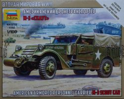 Zvezda 6245 Armored Car M-3 Scout 1:100 Art of Tactic