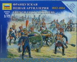Zvezda 6810 French Foot Artillery 1812-1814 1:72 Art of Tactic