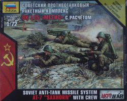 Zvezda 7413 Soviet Anti-Tank Missile System AT-7 SAXHORN with Crew 1:72 Hot War