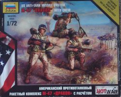 Zvezda 7415 US Anti Tank Missile System M-47 Dragon with Crew 1:72 Hot War