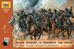 Zvezda 8079 Black Hussars of Frederick The Great XVIII A.D. 1:72